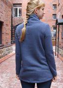 Женский модный свитшот из хлопкового футера необычной джинсовой расцветки.