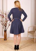 Кофточка платья с рельефами, юбка – полусолнце.