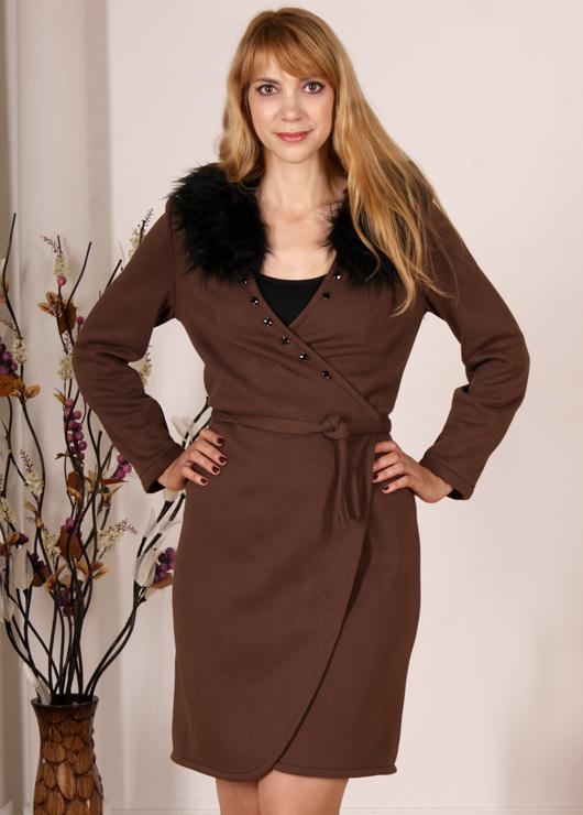 Коричневое платье Диана