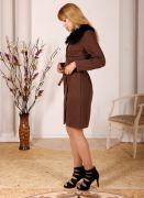 Купить коричневое платье.